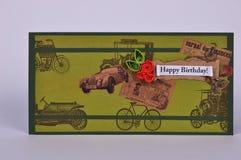 Cartão feito a mão do dia do ` s do pai com flores Foto de Stock