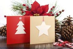 Cartão feito a mão do Natal Imagem de Stock Royalty Free