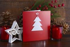 Cartão feito a mão do Natal Fotos de Stock Royalty Free