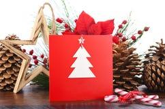 Cartão feito a mão do Natal Fotografia de Stock