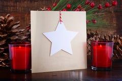 Cartão feito a mão do Natal Foto de Stock Royalty Free