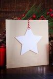 Cartão feito a mão do Natal Fotografia de Stock Royalty Free