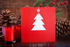 Cartão feito a mão do Natal Foto de Stock