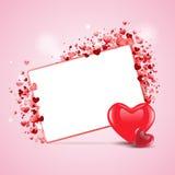 Cartão feliz bonito do amor do dia de Valentim EPS Fotos de Stock Royalty Free
