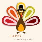 Cartão feliz da ação de graças com ação de graças feliz Turquia ilustração stock