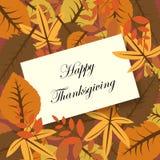Cartão feliz da acção de graças ilustração stock