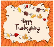 Cartão feliz da acção de graças Fotografia de Stock
