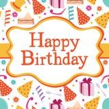 Cartão feliz da festa de anos Fotografia de Stock Royalty Free