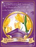 Cartão feliz da graduação também para a cópia ilustração do vetor