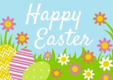 Cartão feliz da Páscoa Fotos de Stock