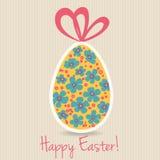 Cartão feliz da Páscoa ilustração stock