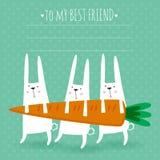 Cartão feliz da Páscoa Foto de Stock