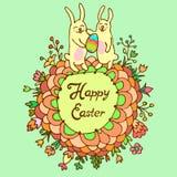 Cartão feliz da Páscoa Fotografia de Stock