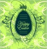 Cartão feliz da Páscoa com ovo Imagens de Stock