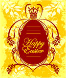 Cartão feliz da Páscoa com ovo Foto de Stock