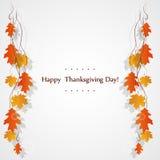 Cartão feliz das celebrações do dia da ação de graças Imagem de Stock