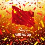 Cartão feliz de Chine Day Foto de Stock