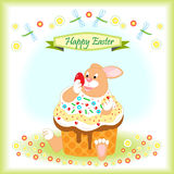 Cartão feliz de Easter Fotografia de Stock Royalty Free