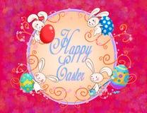 Cartão feliz de easter Imagens de Stock
