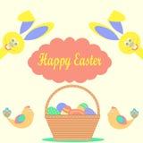 Cartão feliz de easter Imagem de Stock