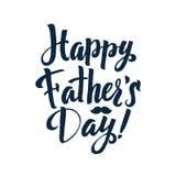 Cartão feliz de Greting da caligrafia do dia do ` s do pai Inscrição da tinta ilustração stock