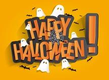 Cartão feliz de Halloween Fotos de Stock Royalty Free