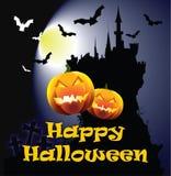 Cartão feliz de Halloween Foto de Stock Royalty Free