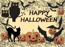 Cartão feliz de Halloween Imagens de Stock