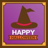 Cartão feliz de Halloween Foto de Stock