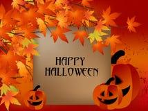 Cartão feliz de Halloween imagem de stock royalty free