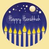 Cartão feliz de Hanukkah ilustração stock