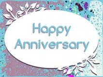 Cartão feliz do aniversário com folhas Foto de Stock Royalty Free