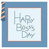 Cartão feliz do convite do dia do chefe Fotografia de Stock
