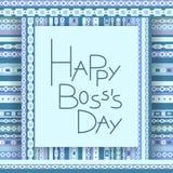 Cartão feliz do convite do dia do chefe Foto de Stock Royalty Free