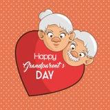 Cartão feliz do dia da avó Fotos de Stock Royalty Free
