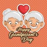 Cartão feliz do dia da avó Fotografia de Stock