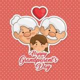 Cartão feliz do dia da avó Foto de Stock Royalty Free