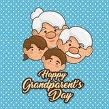 Cartão feliz do dia da avó Imagem de Stock Royalty Free