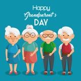 Cartão feliz do dia da avó Fotografia de Stock Royalty Free