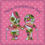 Cartão feliz do dia da avó Imagens de Stock