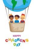 cartão feliz do dia das crianças Foto de Stock Royalty Free
