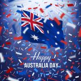 Cartão feliz do dia de Austrália Foto de Stock Royalty Free