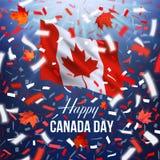 Cartão feliz do dia de Canadá Fotografia de Stock Royalty Free