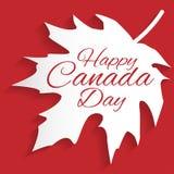 Cartão feliz do dia de Canadá Foto de Stock