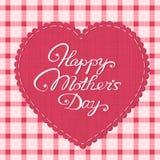 Cartão feliz do dia de mãe Fotografia de Stock