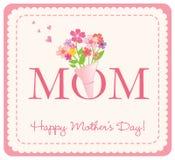 Cartão feliz do dia de mãe ilustração stock