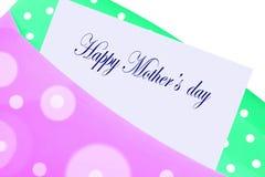Cartão feliz do dia de matriz Fotografia de Stock