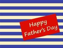 Cartão feliz do dia de pai com listras Fotos de Stock Royalty Free
