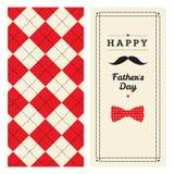 Cartão feliz do dia de pai com teste padrão Fotografia de Stock Royalty Free