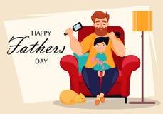 Cartão feliz do dia de pais ilustração royalty free